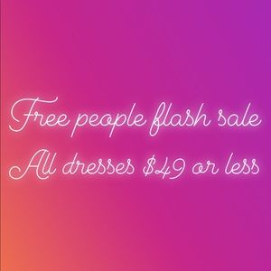 Free people flash sale- $49 and under!